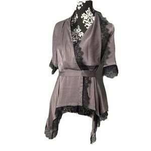 BCBG Max Azria XS Extra Small Eunice Lace Wrap Top